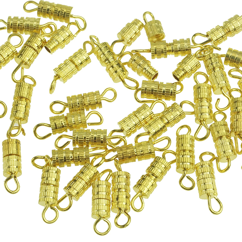 Kare & Kind Barrel Screw-100pcs-Screw type Clasp 4X15mm-10 retail packaging