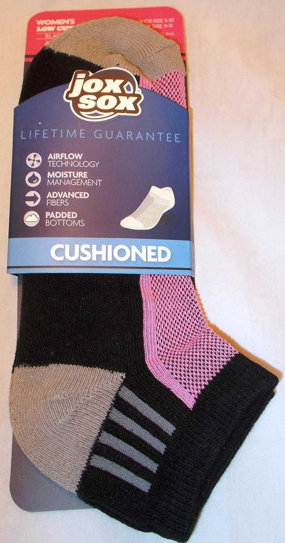 Jox Sox - Funda acolchada para mujer calcetines de corte bajo negro/rosa: Amazon.es: Deportes y aire libre