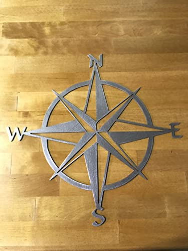 Nautical Star Compass Steel Wall Decor Wall Hanging Art Rustic Vintage  Polished Finish