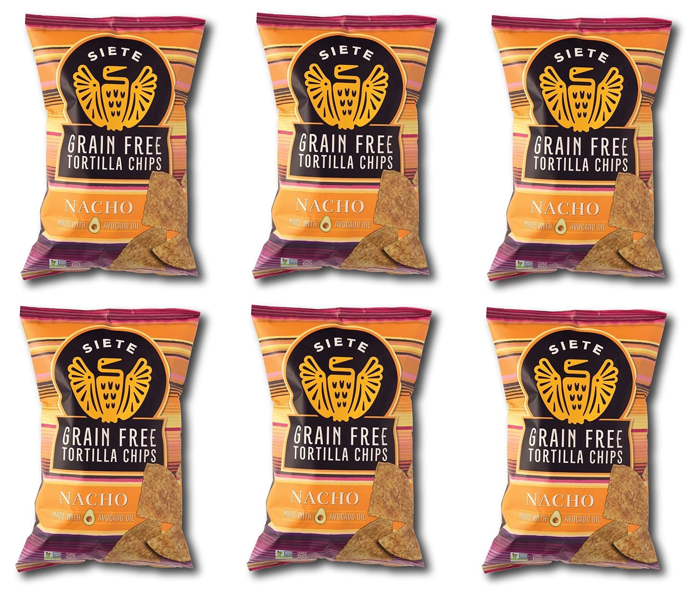 Siete Nacho Grain Free Tortilla Chips, 5 oz bags, 12-Pack by Siete