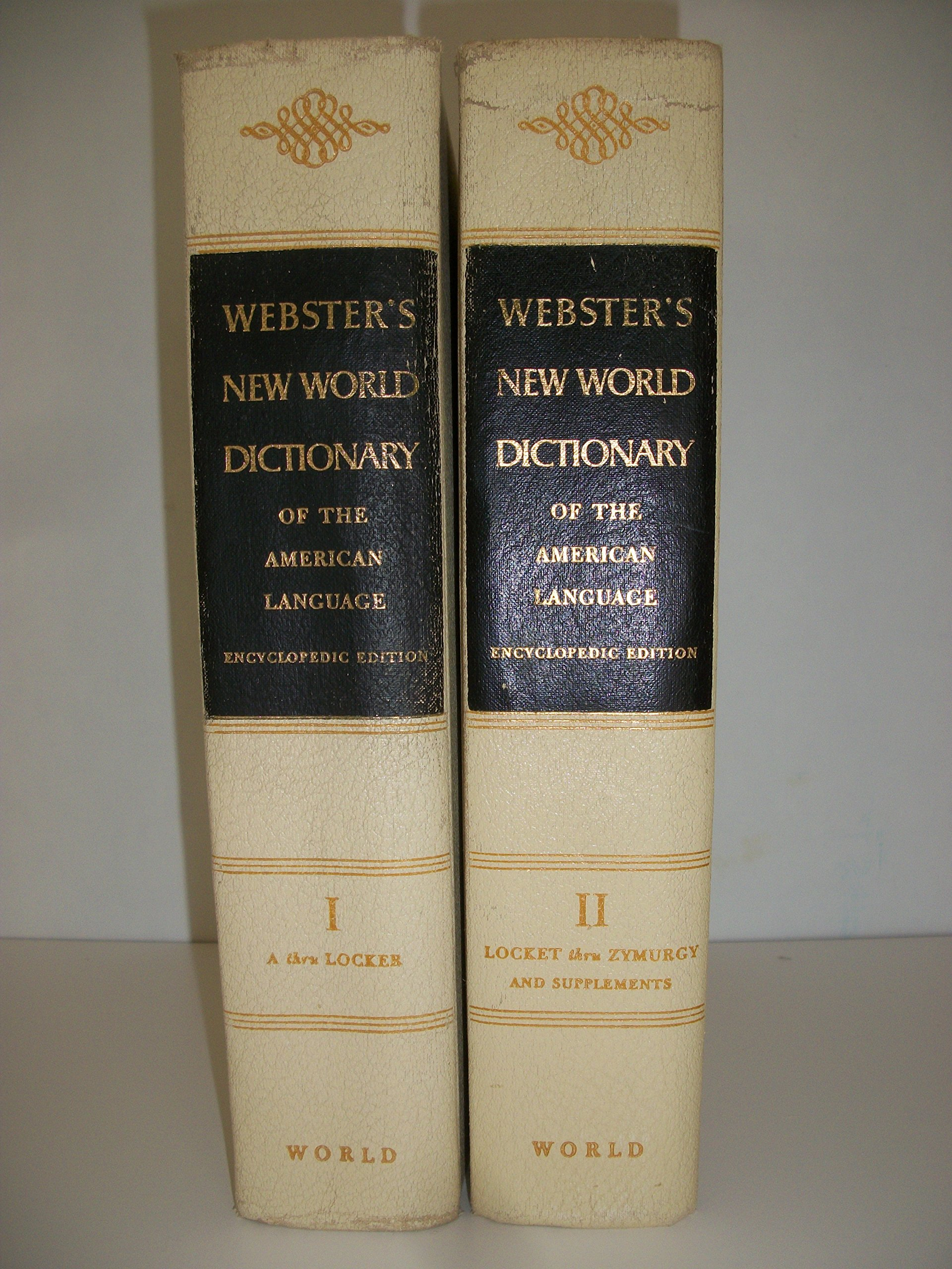 Webster's New World Dictionary of the american Languag, Encyclopedic  Edition, 2 Volume Set: Editor: Amazon.com: Books