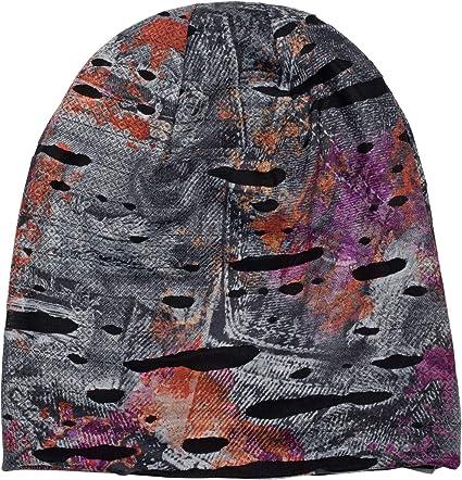 Slouch Longbeanie Unisex Beanie Mütze Used Look Vintage Splat Farbklecks Muster