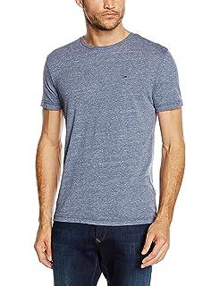 b5bee1f5 Tommy Jeans Men's Original V-Neck Short Sleeve T-Shirt: Amazon.co.uk ...