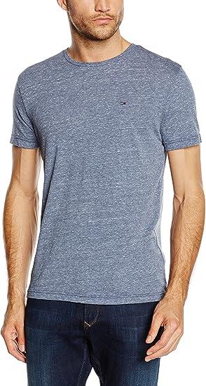 TALLA L. Tommy Hilfiger Original Melange Crew Neck Camiseta para Hombre