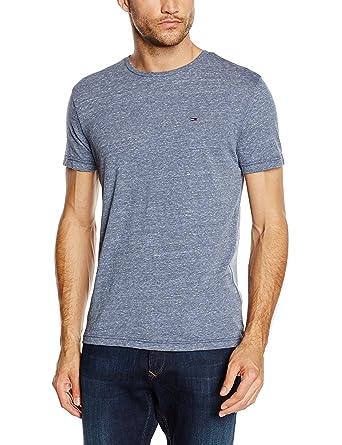 Tommy Jeans Hilfiger Denim Men's Original Melange Crew Neck Short Sleeve T- Shirt: Amazon.co.uk: Clothing