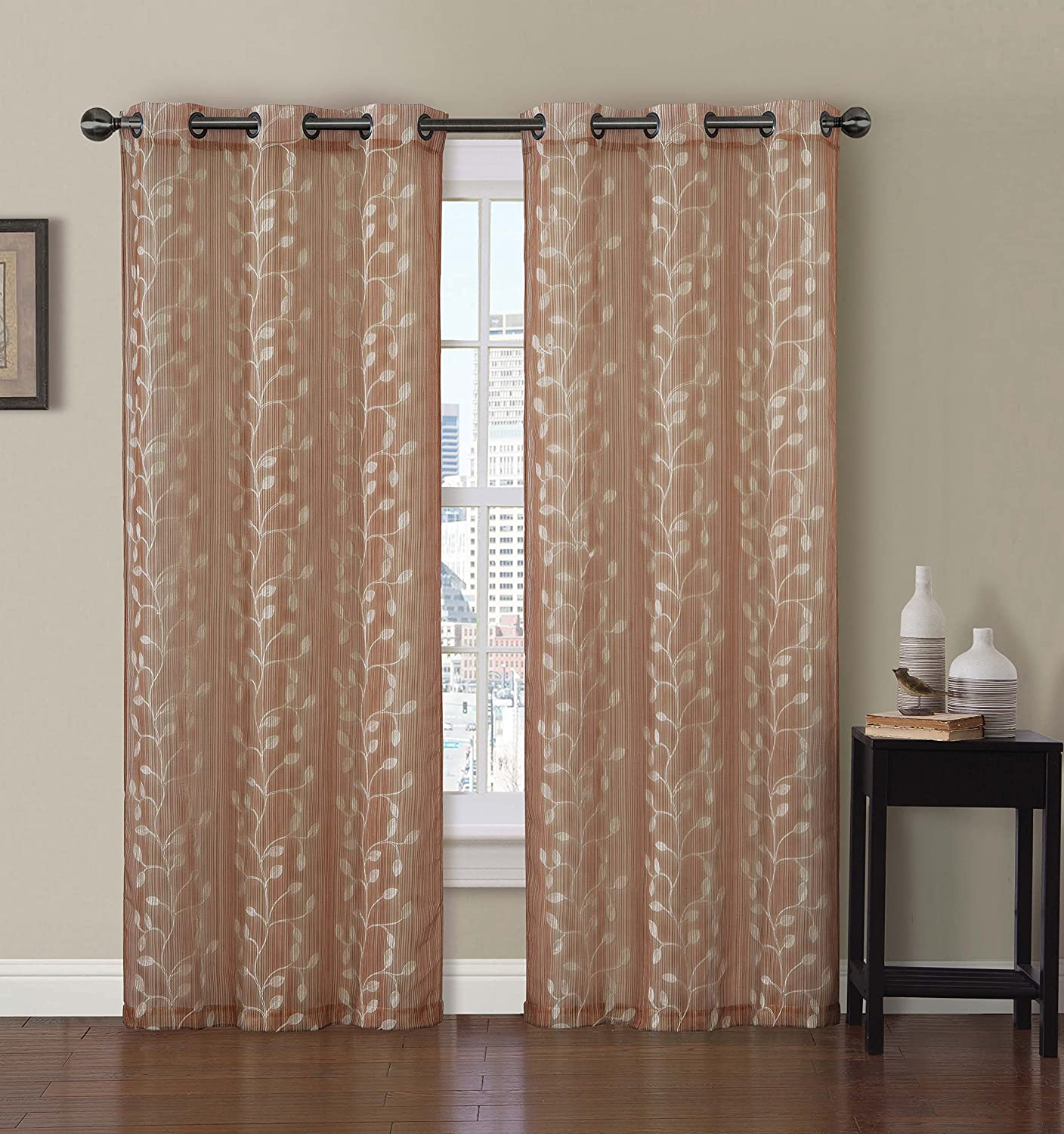 Couldn t find a picture of the curtains anywhere online this is - Amazon Com Set Of 2 Panels 76 Wx84 L Royal Tradition Thalia Blue Embroidered Grommet Curtain 38 Inch By 84 Inch Each Panel