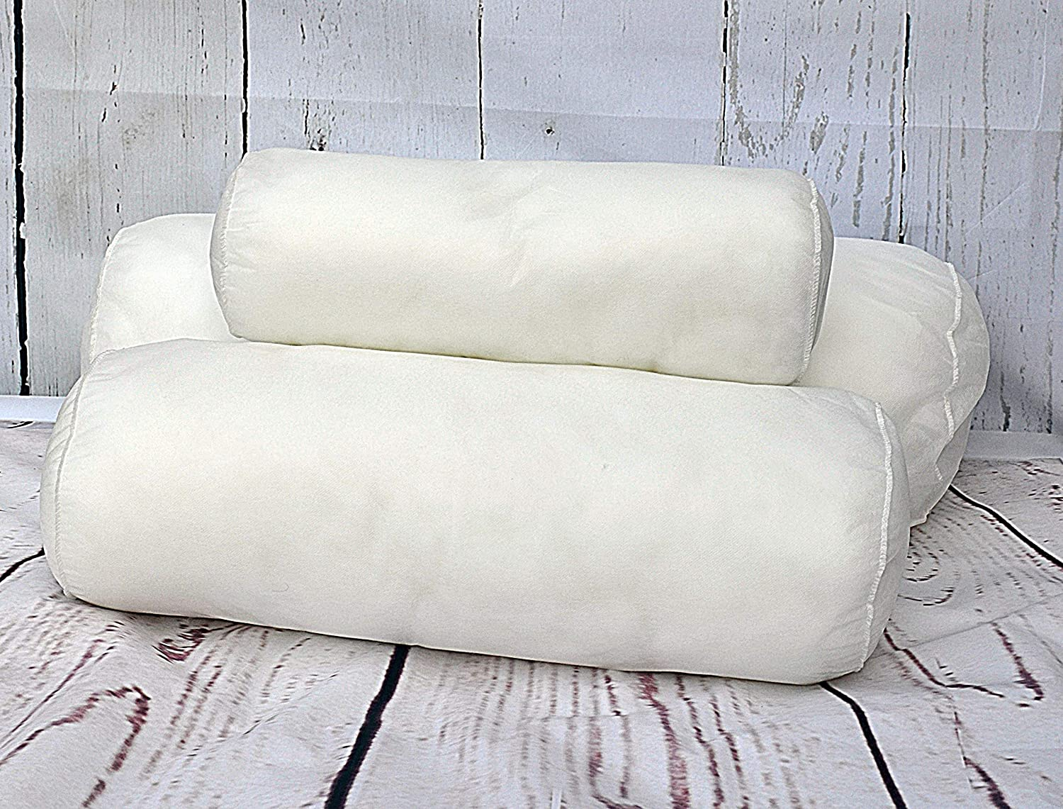 Multi-purpose Super Comfy Cuddly -Non-Allergenic Orthopedic Long Pillow for Back Maternity Support- Pregnancy Support Pillow Premium Hollowfiber Filled Bolster Round Pillow 15x45cm Neck