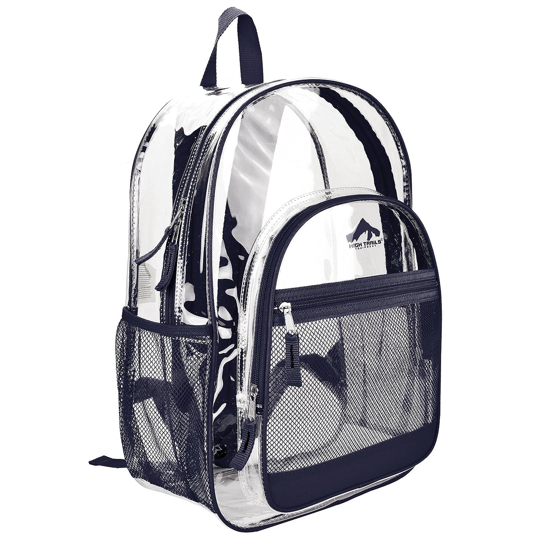 【人気商品!】 [ハイトレイル]HighTrails Clear/ Transparent Clear School Book B00OJL4LQA bag/ Kids Backpack w/ Navy Color Trim SC803NVY [並行輸入品] Dark Blue B00OJL4LQA, WORLD WIDE MARKET:cbbb199f --- arianechie.dominiotemporario.com