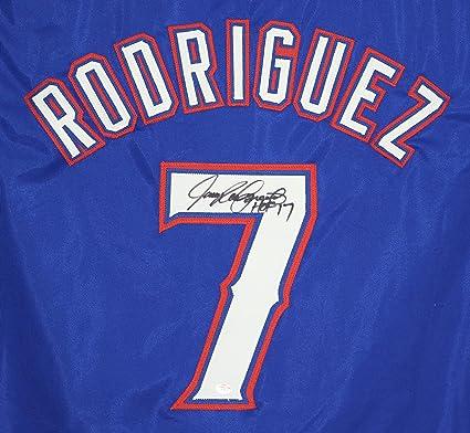 brand new ac5c5 fc1ef Ivan Pudge Rodriguez Texas Rangers Signed Autographed Blue ...