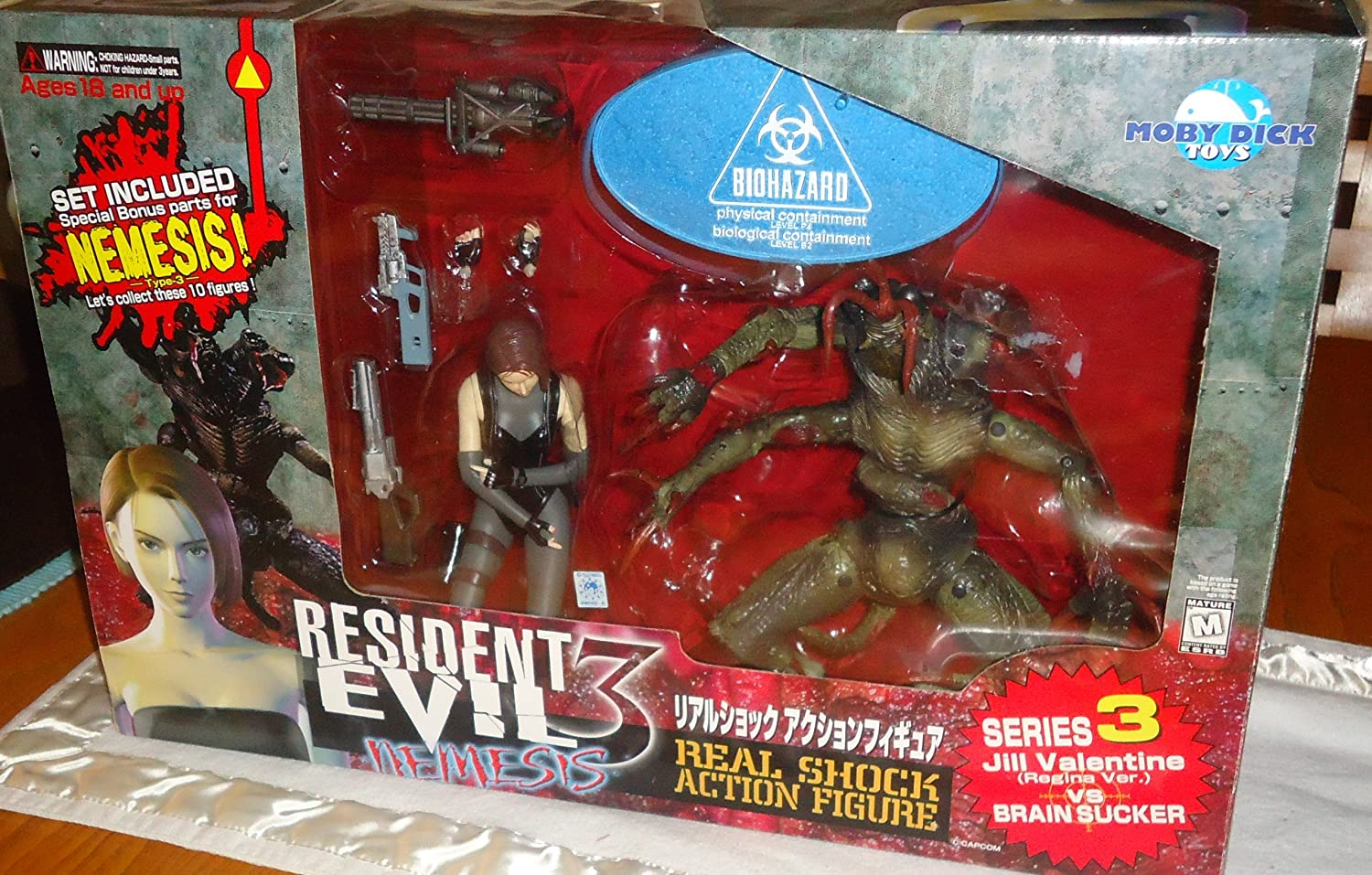 Resident Evil 3 Nemesis Series 3 Jill Valentine VS Brain Sucker ...