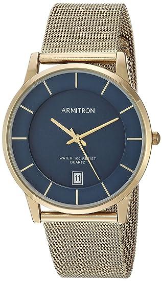 Amazon.com: Armitron Mens Date Function Dial Gold-Tone Mesh Bracelet Watch: Watches