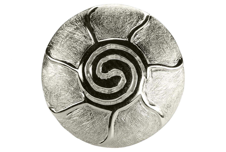 SILBERMOOS Damen Anhä nger Sonne Spirale des Lebens gebü rstet glä nzend 925 Sterling Silber SM449