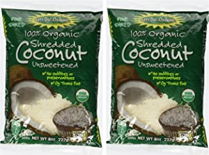 Let's Do Organic Coconut Finely Shredded Flakes Unsweetened -- 8 oz Each / Pack of 2