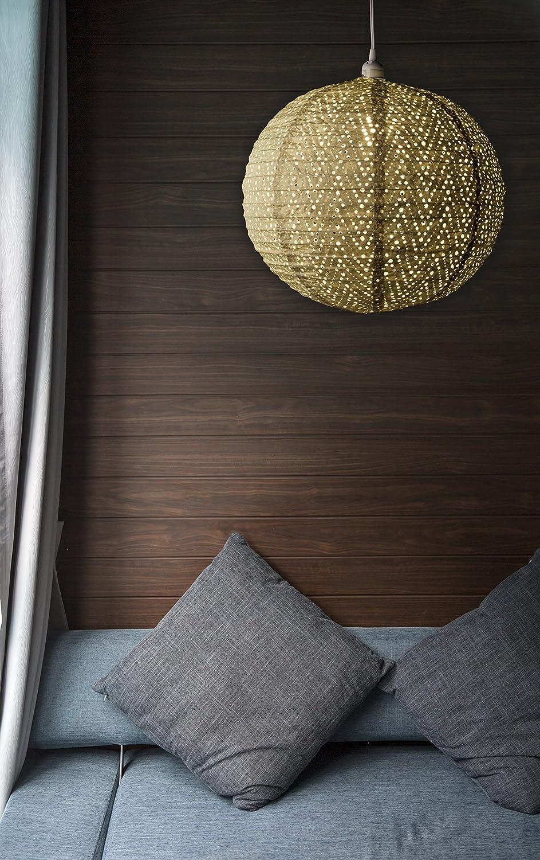 120V 32021 18/″ Indoor//Outdoor Tyvek Pendant Lamp Allsop Home /& Garden Soji Stella Nova Chevron Pearl