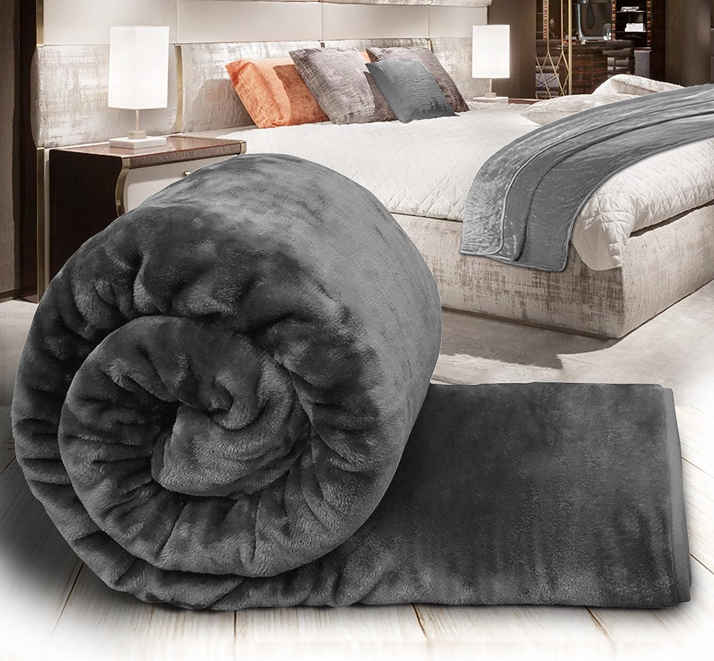 200x240cm 3D Animal Printed Throw Fur Soft Fleece Blanket Sofa Bed Warm 150x200