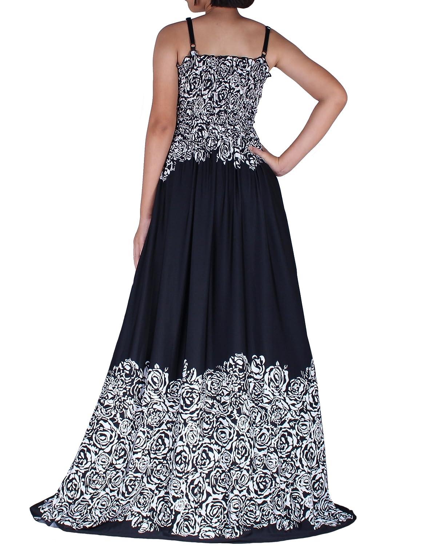 Women Maxi Party Dress Wide Hemline Flattering Plus Size Casual Evening  Dinner Wear Floral