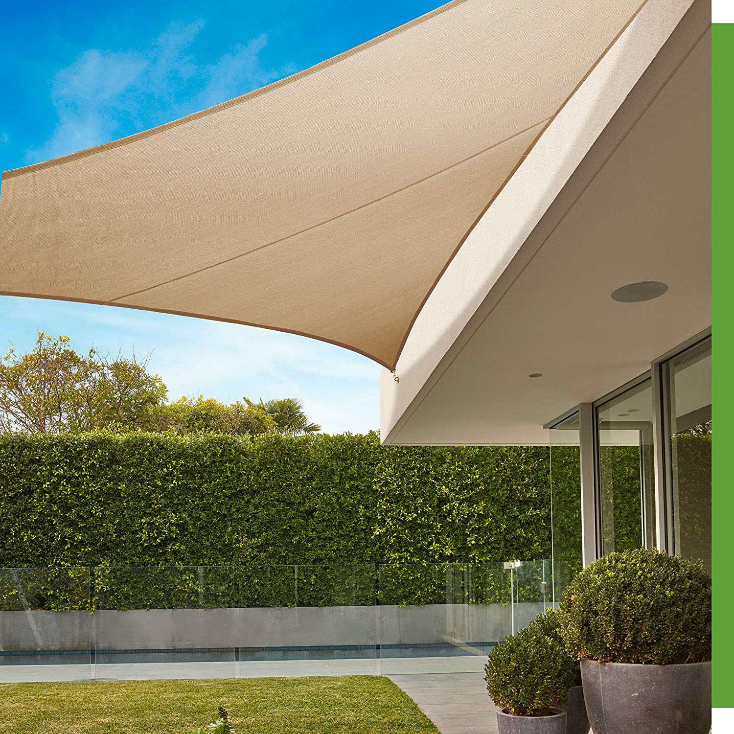 Coolaroo 458157 Shade Sails, 16 5 Triangle, Beech