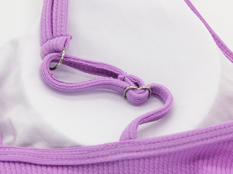 FLORAVOGUE Womens Knotted String Bikini Set Thong Two Pieces Swimwear