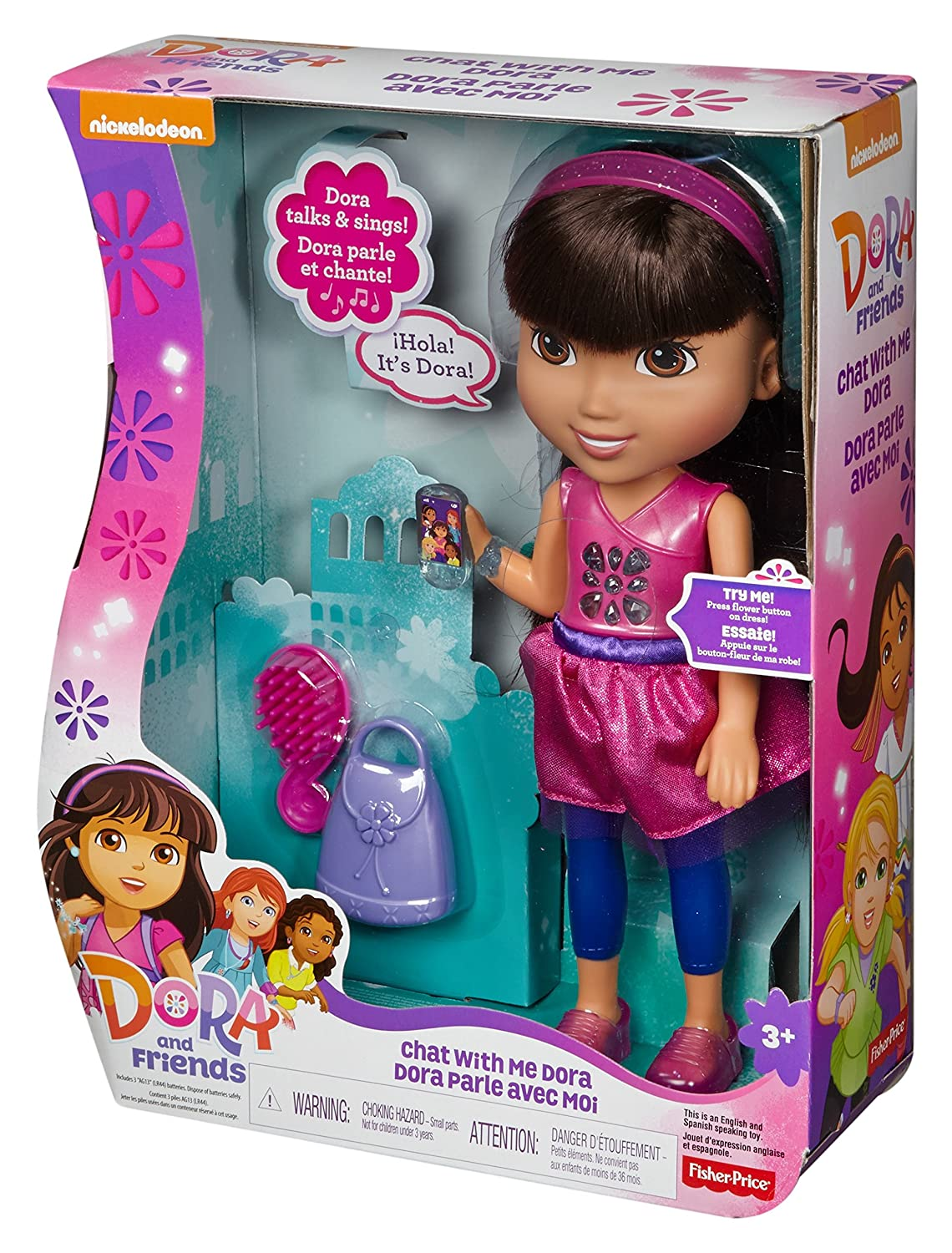 Fisher-Price Nickelodeon Dora and Friends Chat with Me Dora, Dolls ...