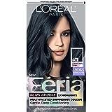 L'Oreal Paris Feria Multi-Faceted Shimmering Permanent Hair Color, 411 Downtown Denim, Pack of 1, Hair Dye