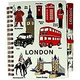 Block notes misura media con penna in coordinato, motivo: souvenir di Londra