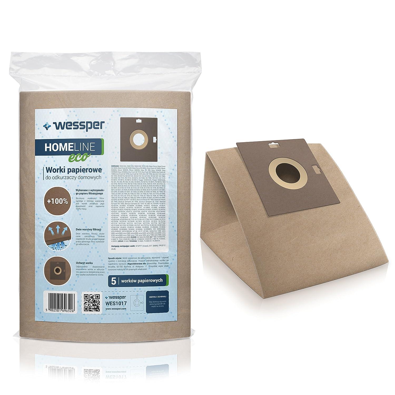 Acquisto Wessper Sacchetti per aspirapolvere Samsung SC6340 (5 pezzi, carta) Prezzo offerta