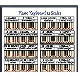"PIANO KEYBOARD 12 SCALES CHART 8.5""x11"""