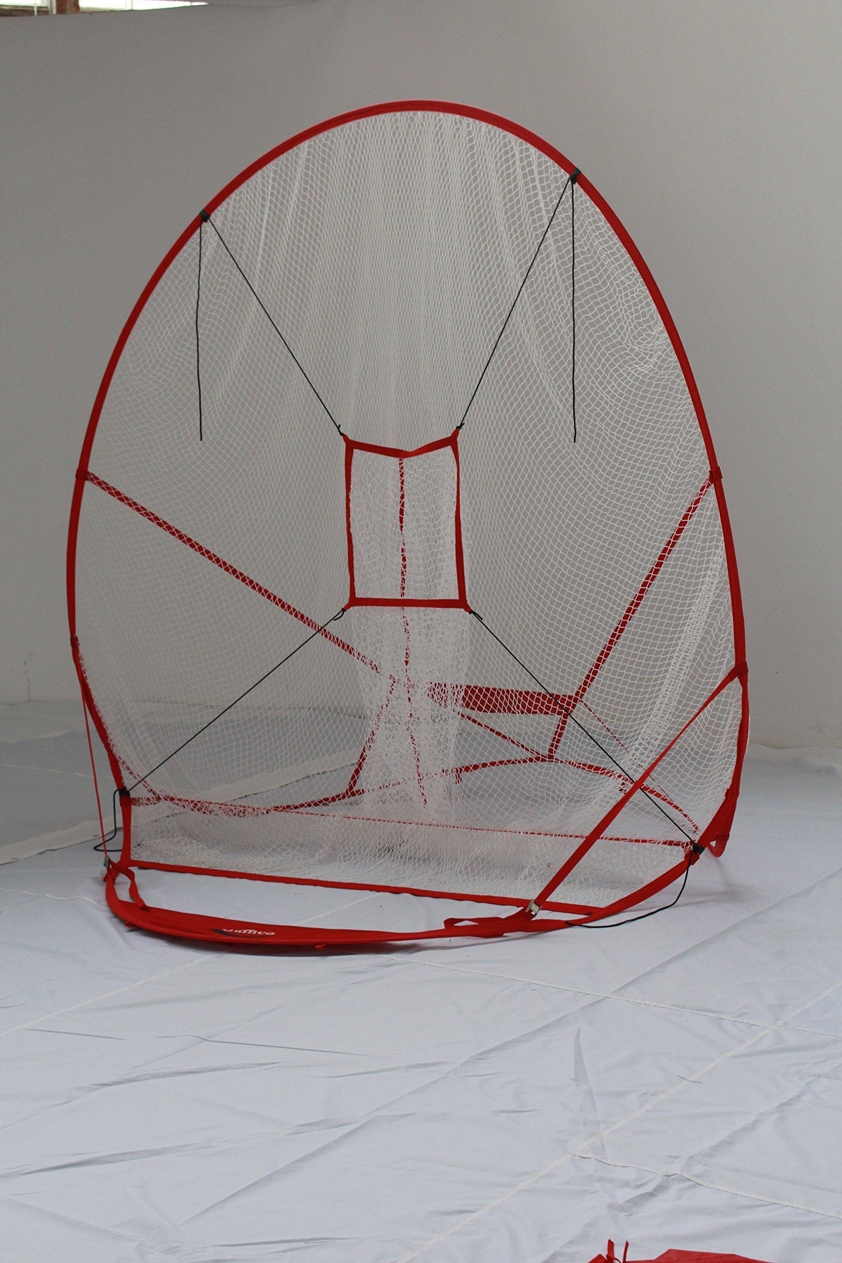 7' X 7'New Redesigned Instant Screen batting net||Baseball Softball net | 7x7 Hitting Net | Strike Zone Target | Carry Bag | Practice Batting, Pitching, Catching |Backstop Screen Equipment Training