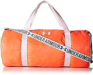 orange under armour duffle bag