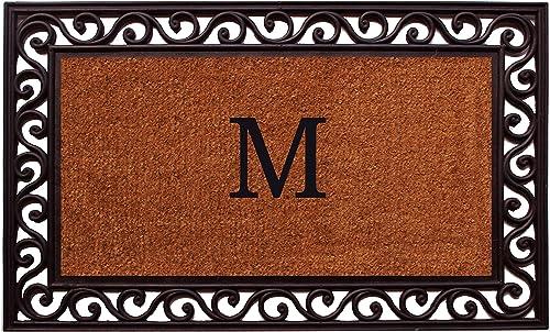 Home More 100062236M Rembrandt Monogram Doormat 22 x 36 Letter M