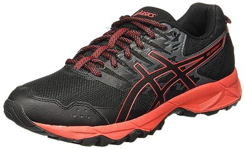 Gel-Fujitrabuco 6, Zapatillas de Running para Hombre, Negro (Black/Fiery Red/Black 9023), 46.5 EU Asics