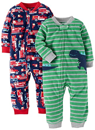ea66026f9c68 Amazon.com  Carter s Baby and Toddler Boys  2-Pack Fleece Footless ...