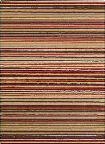 Surya Mystique Transitional Hand Loomed 100 Wool Wine 8' x 11' Geometric Area Rug