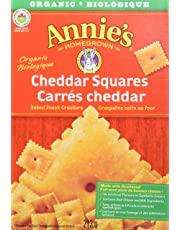 Annie's Homegrown Organic Cheddar Squares Baked Snack Crackers