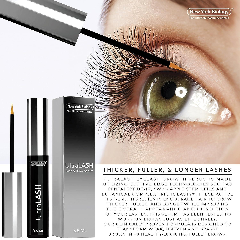 f9ceabf740d Amazon.com: New York Biology Eyelash Growth Serum - 3.5ml: Beauty