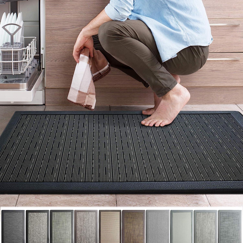 iCustomRug Ergonomic Anti Fatigue Mat, for Comfortable Standing in Kitchen,  Bathroom, Workstation Memory Foam Mat in Black 9