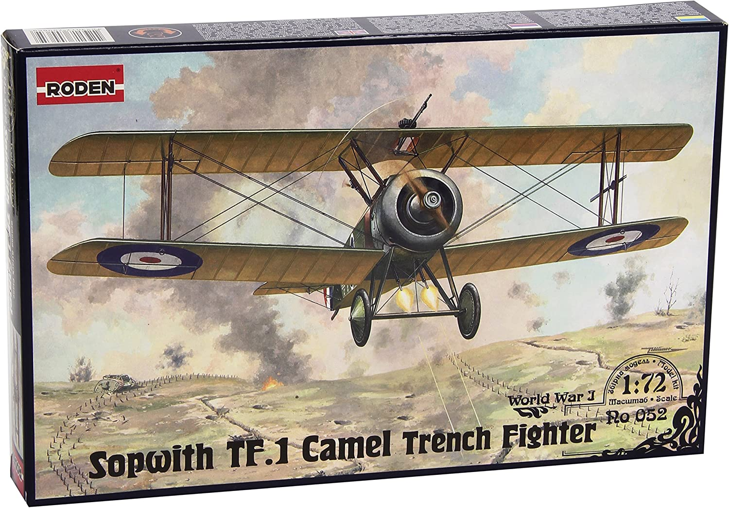 Roden Sopwith TF.I Camel Trench British Fighter Airplane Model Kit