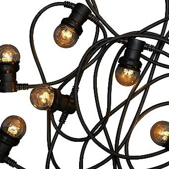 20m black commercial grade festoon string light 20 x 1w round 20m black commercial grade festoon string light 20 x 1w round clear led lights workwithnaturefo