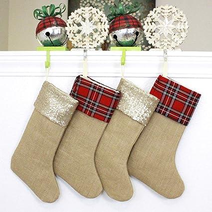 2b1e25272 TheButterflyDecorator - Family Christmas Stockings - Handmade in USA - Set  of Four