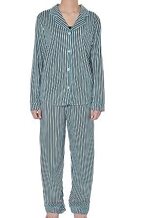 a1b67abd3761 DKNY Womens 2-Piece Pajama Set S Navy, Turquoise & White at Amazon Women's  Clothing store: