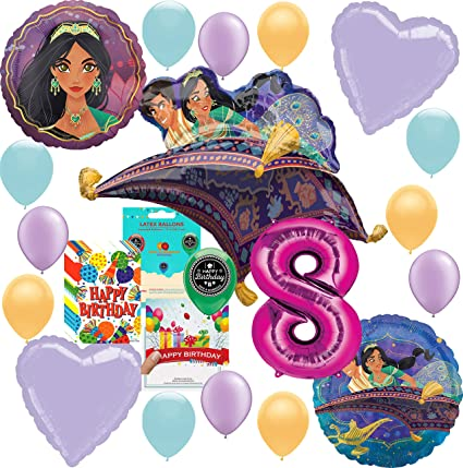 Amazon.com: Aladdin Princesa Jasmine Party Supplies - Globo ...