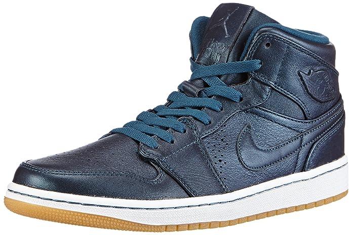 nouveau style 8c017 af267 Jordan Nike Air 1 Mid Nouveau Black Ice Mens Basketball Shoes 629151-003