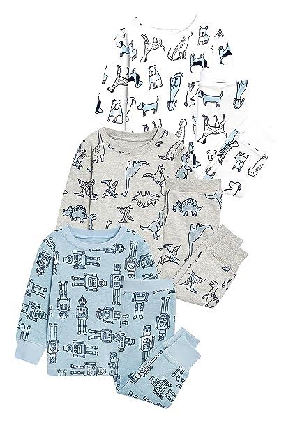 next Niños Pack De Tres Pijamas Cómodos con Estampado De Perros (9 Meses - 8