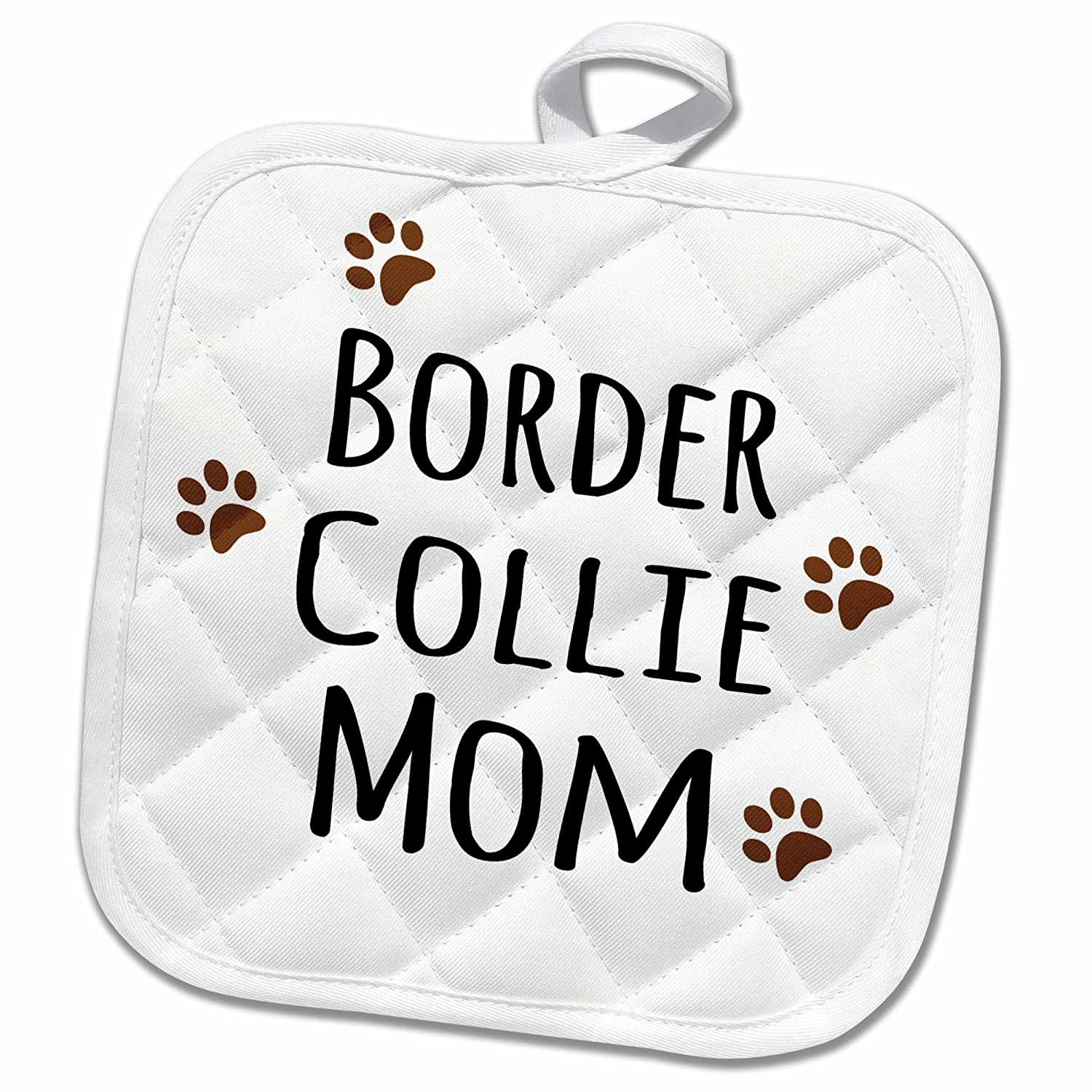 Kitchen Accessories 3d Rose Cavapoo Dog Mom Breed Brown Muddy Paw Prints Love Doggy Lover Proud Mama Pet Owner Pot Holder 8 X 8 Pot Holders Oven Mitts