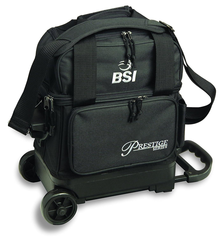 BSI Prestige Series Single Ball Roller Bag Black//Silver Logo