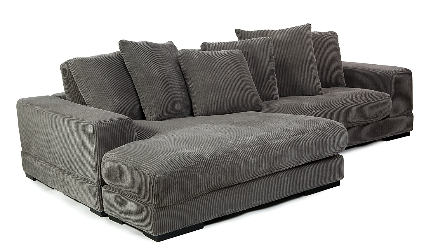 Amazon.com: Moes Home Collection Plunge Reversible Sectional ...