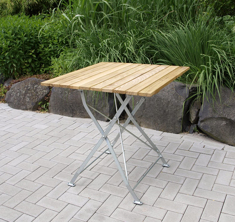 Tavolo Pieghevole Bad Tolz 77 X 77 Cm Acciaio Zincato Robinia Amazon It Giardino E Giardinaggio