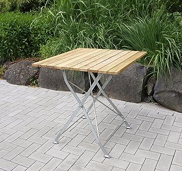 Table pliante de jardin décorative 77 x 77 cm, en acier ...