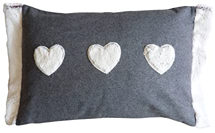 Fur heart cushion with removable cover amazon kitchen home