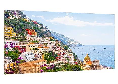 Quadro Moderno Panorama Positano Costiera Amalfitana - 70x42 ...